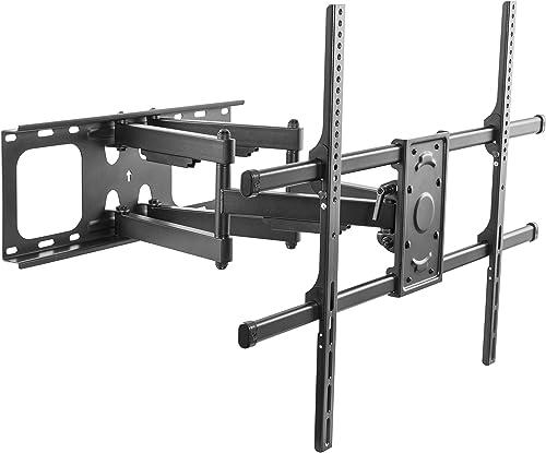 Husky Mounts 90 inch Ultra Heavy-Duty Full Motion TV Wall Mount Fits Most 40 90 LED LCD OLED Smart Plasma Flat Screen Tilt Articulating Bracket. Compatible VESA 100×100 to 800×400, Holds 165 Lbs