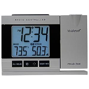 La Crosse Technology WT-5220U-IT Projection Alarm Clock with Indoor/Outdoor Temperature