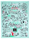 Blue Q Artist At Work Dish Towel, Screen-Printed with Water-Based Inks, 100% Cotton, 28 by 21 Inches