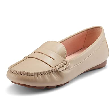 60007bcbfc6 JENN ARDOR Women's Flat Loafer Ladies Casual Moccasin Shoe Low Wedge Heel  Work Shoes Size 3-8