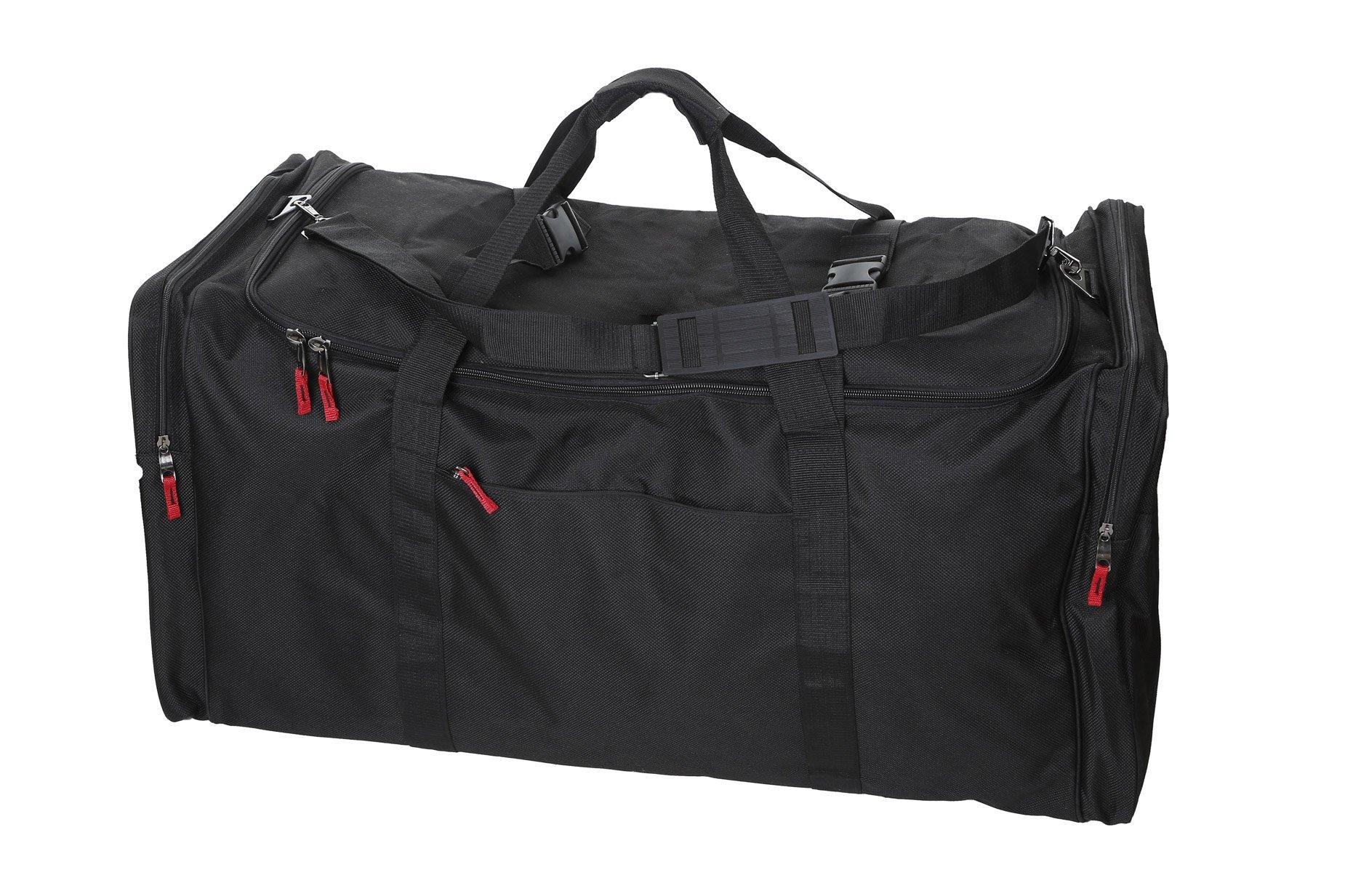 Camp Soft Trunk - Black, Size:  52 x 18 x 20, 18,720 Cu. Inch