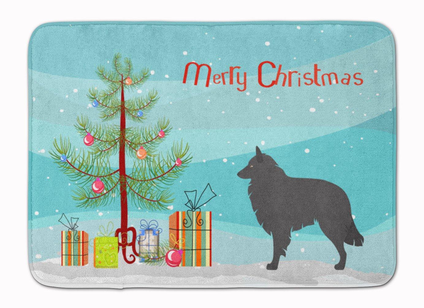 Carolines Treasures Groenendael Belgian Shepherd Christmas Floor Mat 19hx27w Multicolor