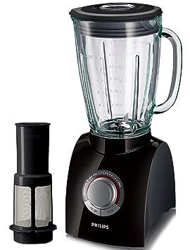 Philips HR2084/90 Licuadora negra con filtro para la fruta y jarra de 2 litros, 650 Watt: Amazon.es: Hogar
