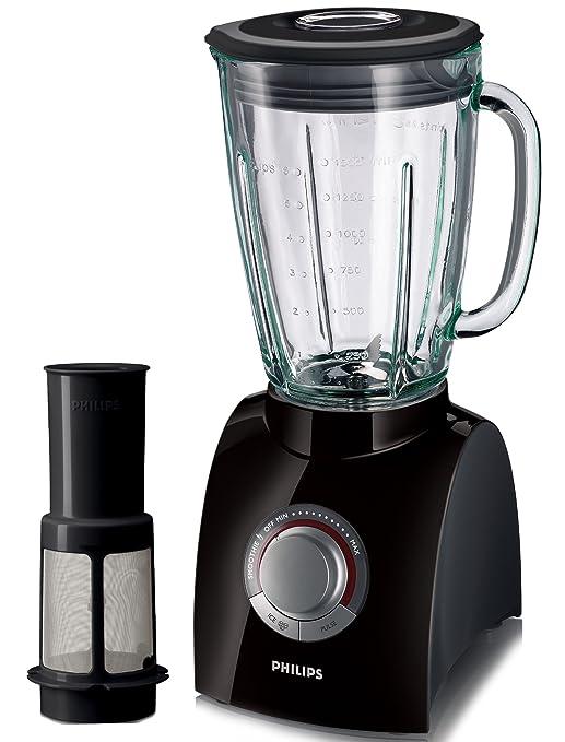 Philips HR2084/90 Licuadora negra con filtro para la fruta y jarra ...