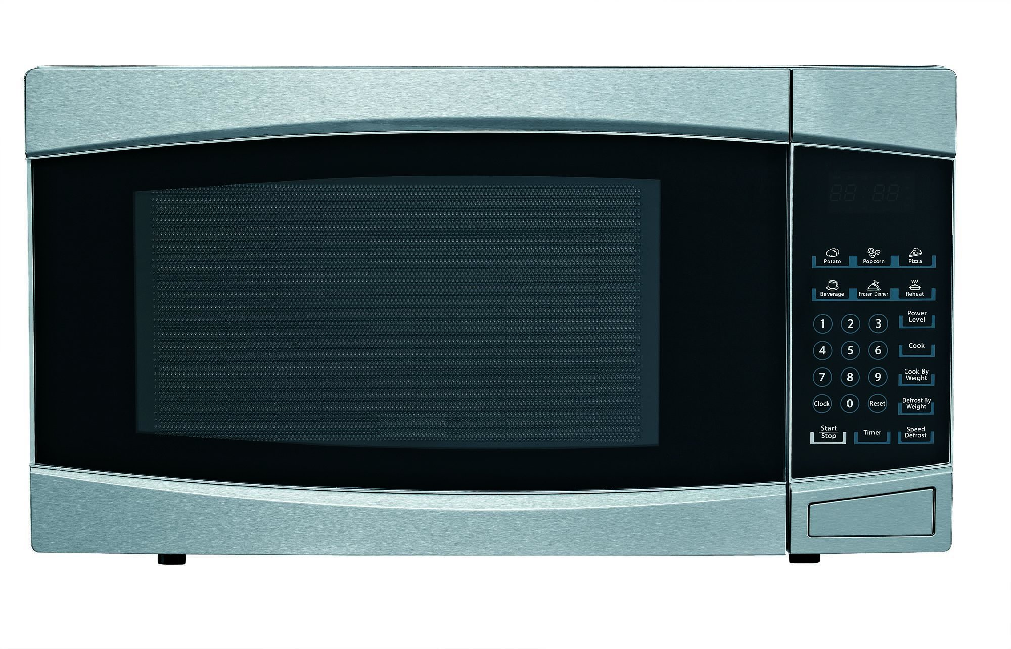 RCA RMW1414 Stainless Steel Microwave, 1.4 cu. ft., Black