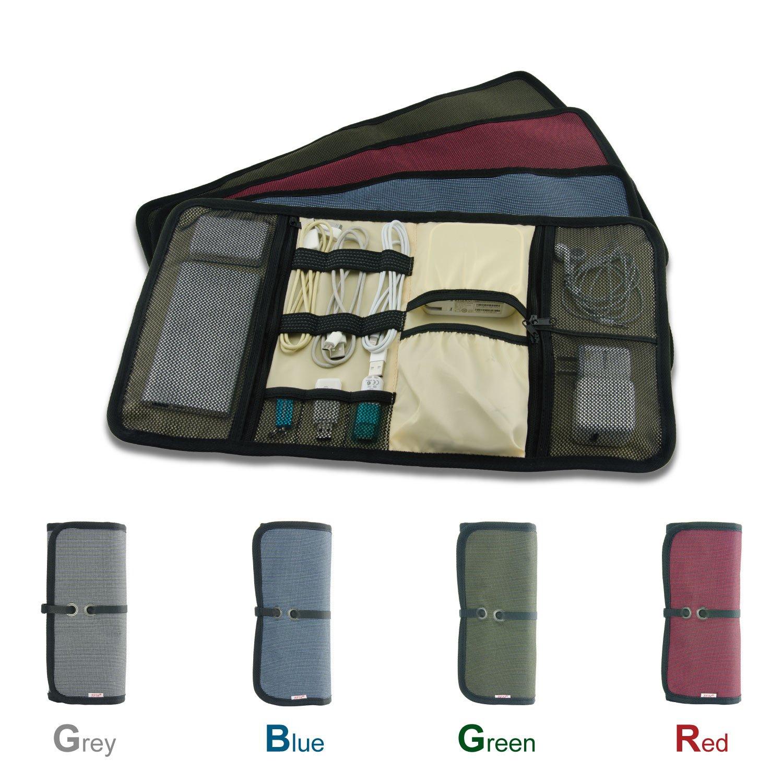tfy sac de rangement c bles pour pc portable et accessoires smartphone bleue ebay. Black Bedroom Furniture Sets. Home Design Ideas