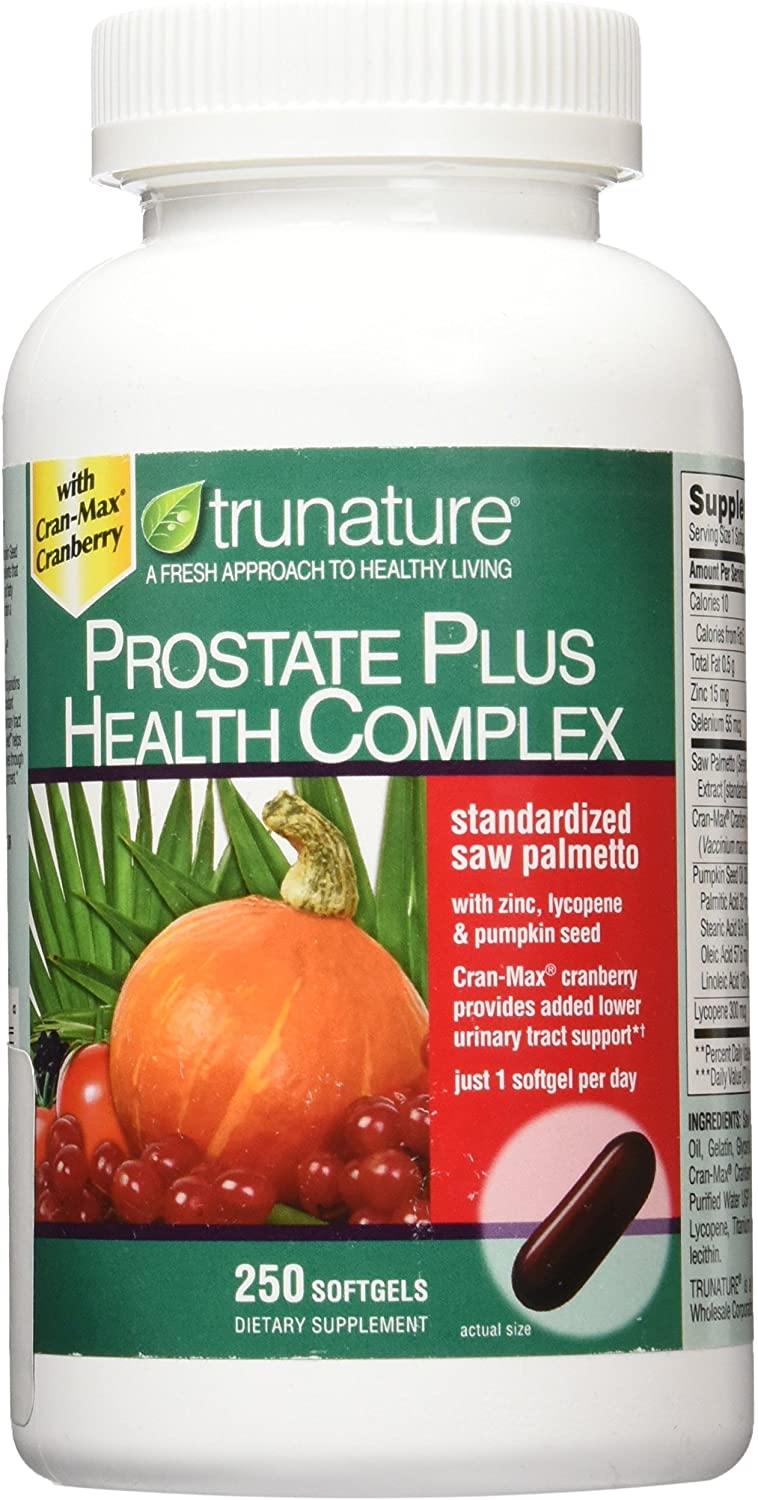 Trunature Saw Palmetto Prostate Health Complex with Zinc, Lycopene, Pumpkin Seed, 1.8 Pound