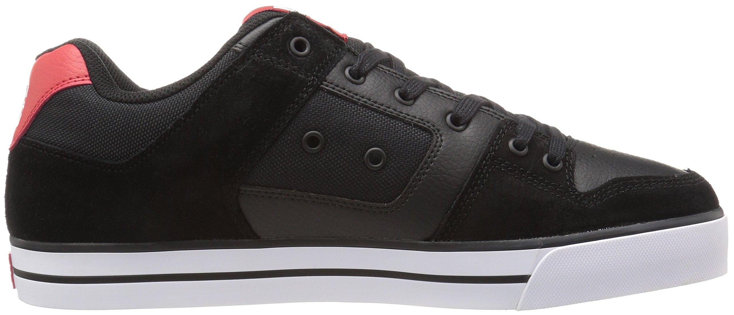 DC Shoes Mens Shoes Pure - Shoes - Men - 9.5 - Black Black/Athletic Red 9.5 by DC (Image #7)