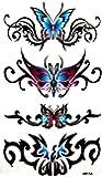 King Horse étanche autocollant sexy tatouage de papillon