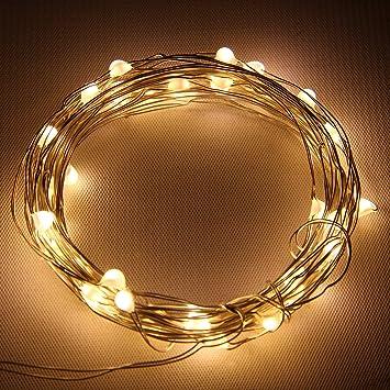 Starlight 25ft LED String Lights - Silver Flexible Wire & Amazon.com : Starlight 25ft LED String Lights - Silver Flexible Wire ...