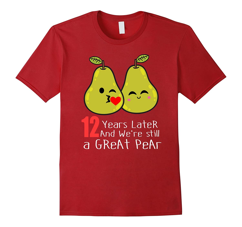 12th Wedding Anniversary Shirt Gifts Funny Couples T-shirt