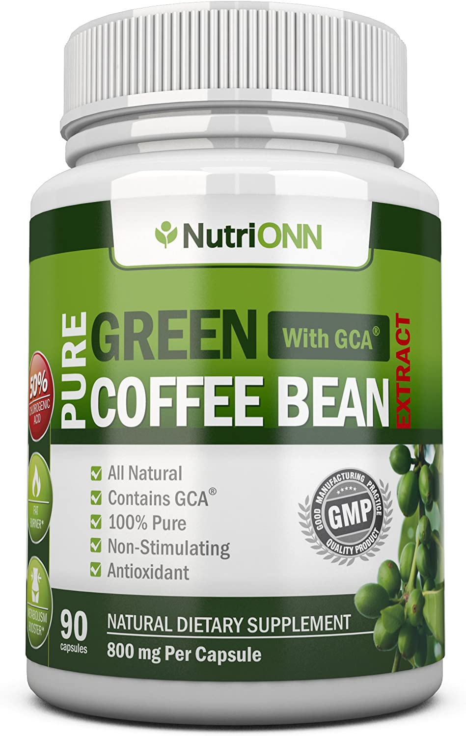 Amazon Com Green Coffee Bean Extract With Gca 800mg 90