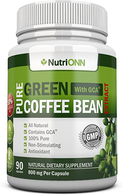 Amazon Com Green Coffee Bean Extract With Gca 800mg 90 Vegetarian Capsules Best Value For Price Highest Quality Pure Natural Coffee Extract For Weight Loss Health Personal Care