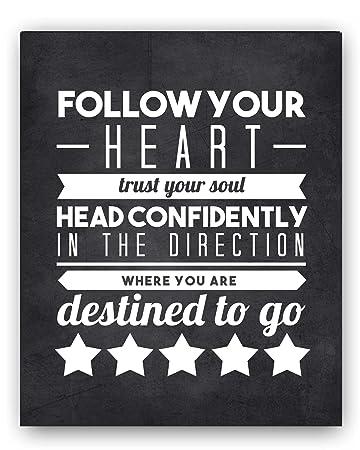 amazon com graduation gift quote follow your heart chalkboard