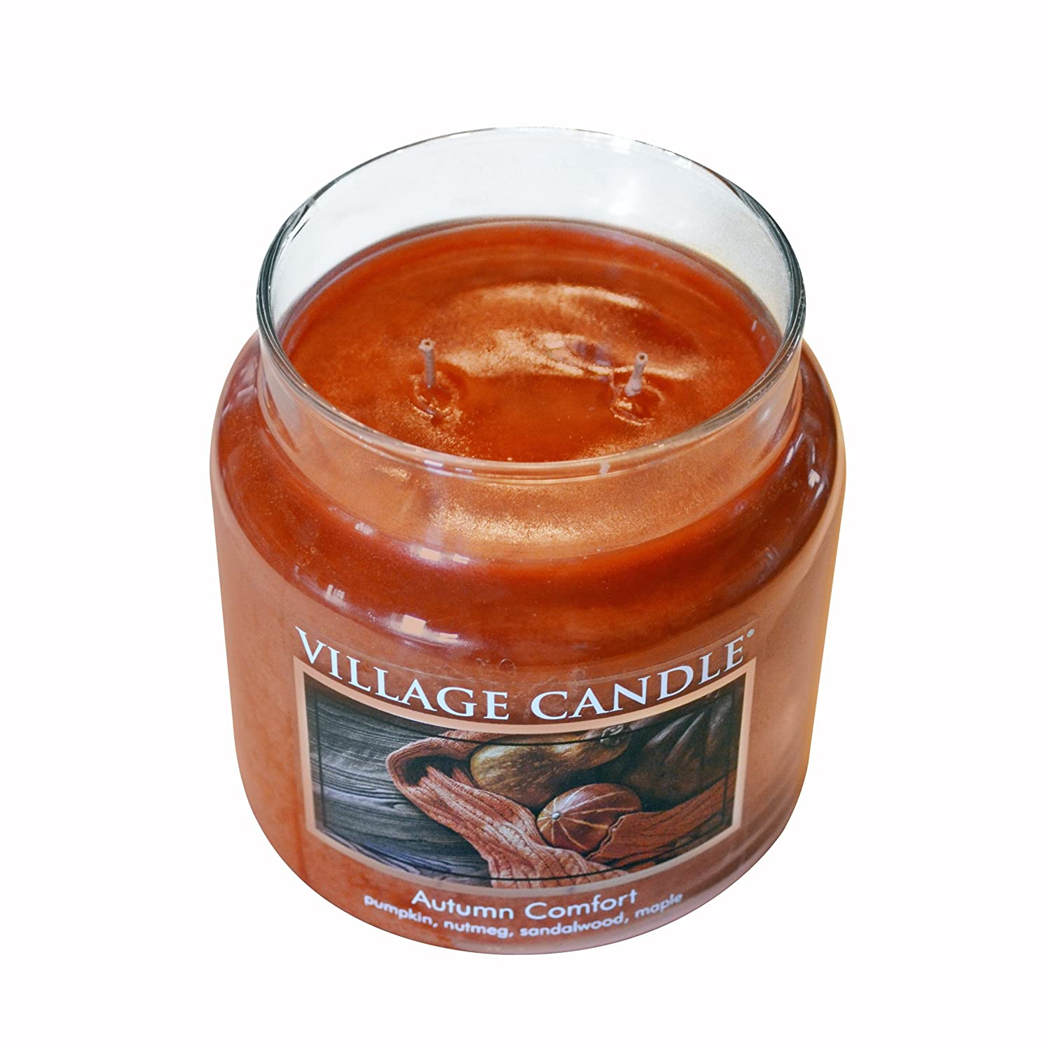 Village Candle Autumn Comfort 11 oz Glass Jar Scented Candle Small 106011833