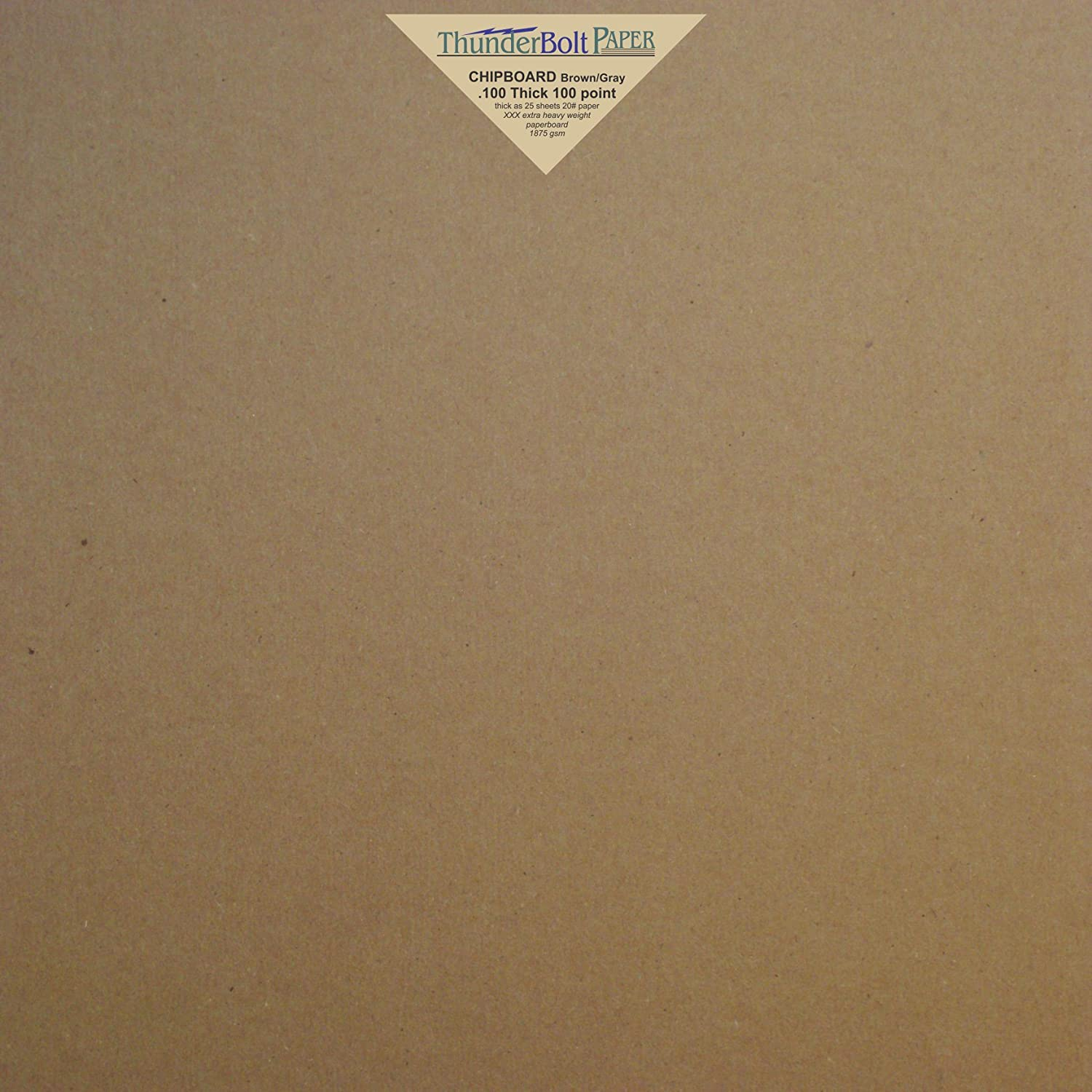 12X12 Inches 4 Sheets Brown Chipboard 100 Point Extra Thick 12 X 12 Scrapbook Album Page Size .100 Caliper XXX Heavy Cardboard as Thick as 25 Sheets of 20# Paper