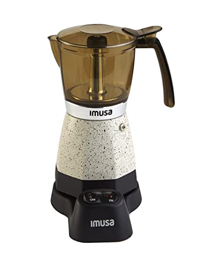 IMUSA USA B120-60011 Electric Espresso/Moka Maker, 3-6-Cup, White
