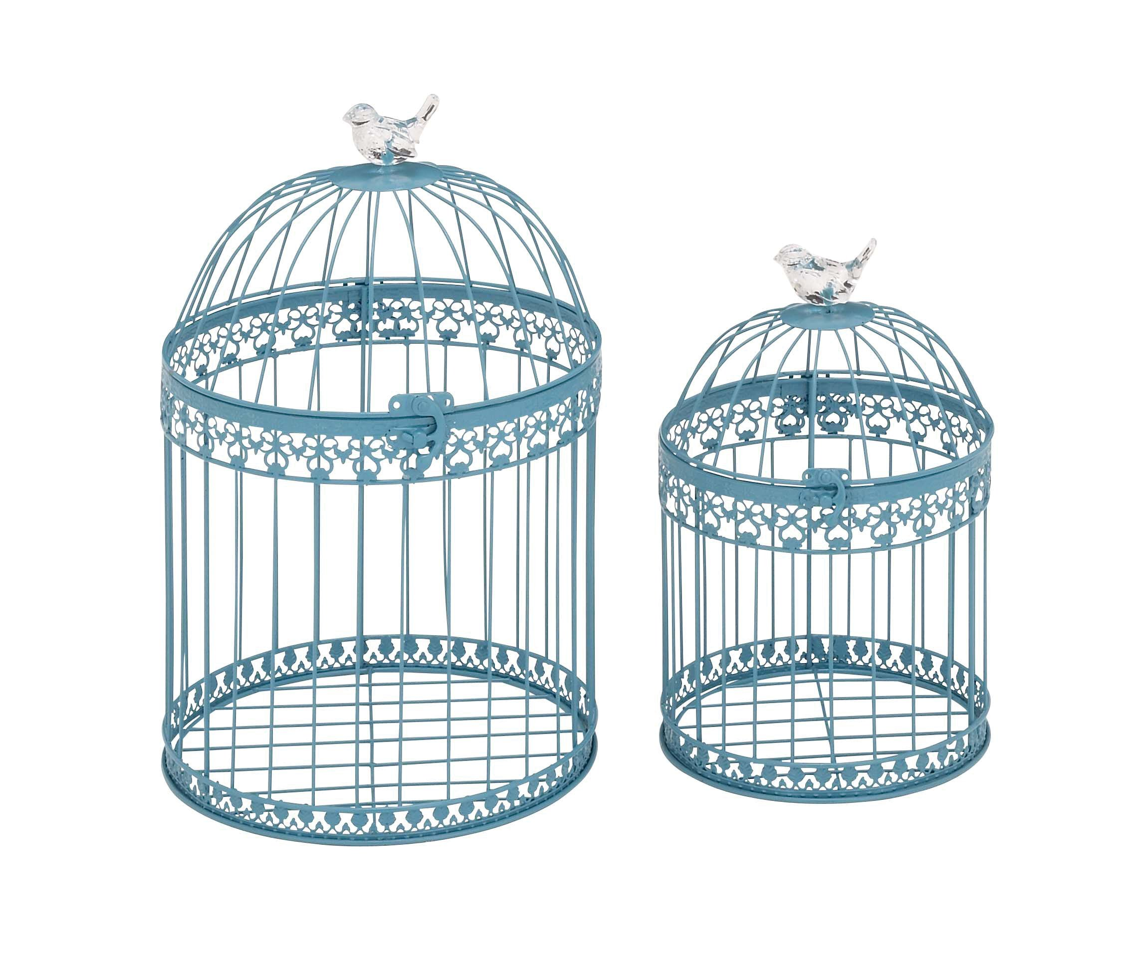Benzara Attractive and Lovely Acrylic Bird Cages, Set of 2 by Benzara