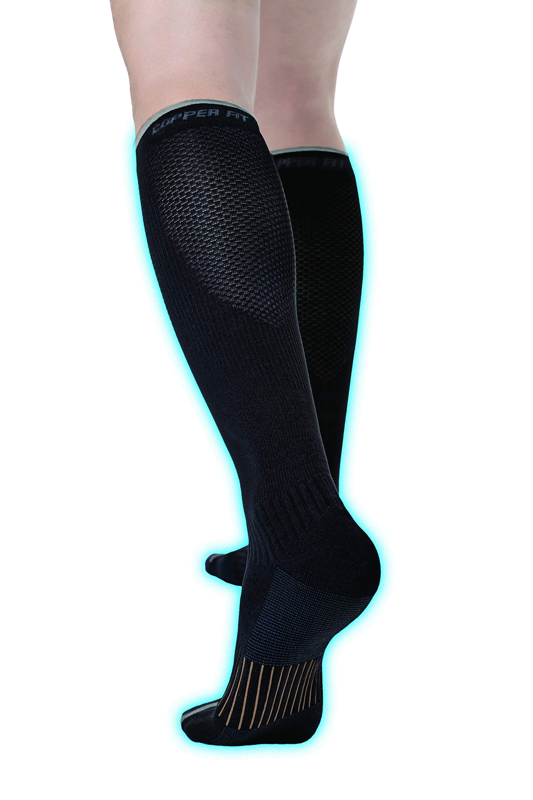 4d8859bdf Copper Fit Unisex 2.0 Easy-On and Easy-Off Knee High Compression Socks