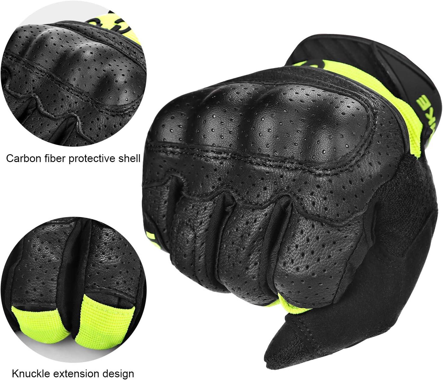 INBIKE Motorrad Handschuhe Atmungsaktiv Verschlei/ßfest Touchscreen Motorradhandschuhe Mit Harter Schutzh/ülle Professionelle Motorradschutzhandschuhe Aktualisierte Version IM801