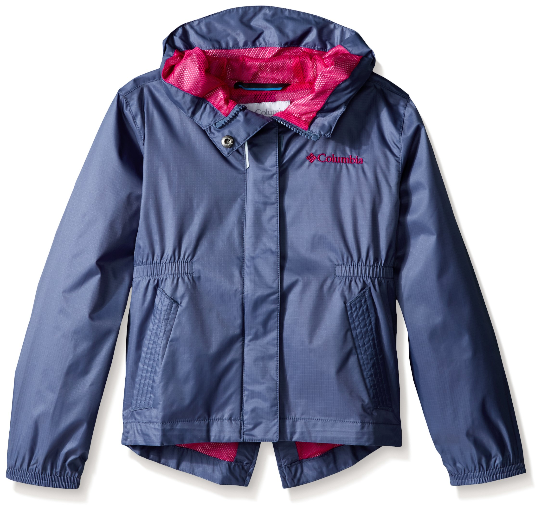 Columbia Big Girls' Explore More Rain Jacket, Bluebell, Small
