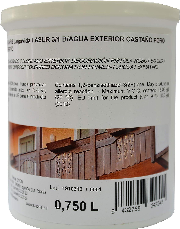 Lasur 3/1 Base Agua Exterior Castaño Poro Abierto