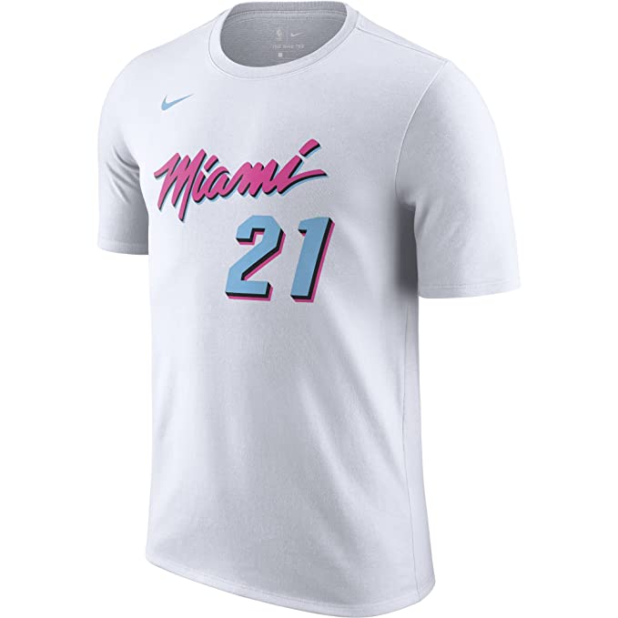 Nike NBA Miami Heat Hassan Whiteside 21 2017 2018 City Edition Name & Number Official,