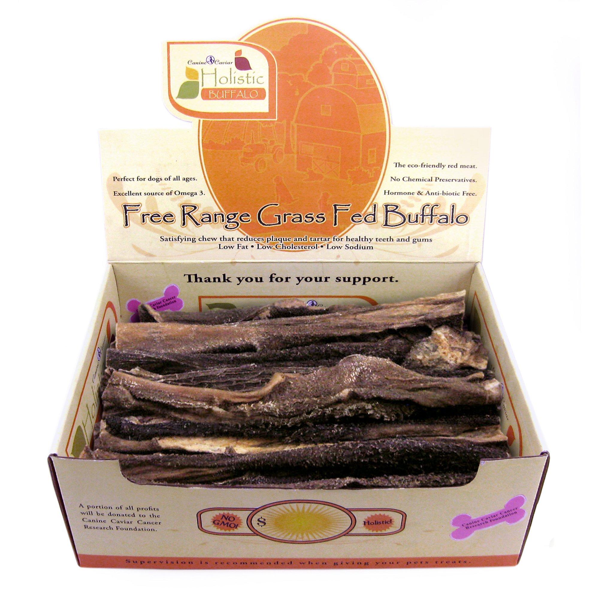 Canine Caviar 12-Inch Vanilla Buffalo Tripe Flat pet Food, 35 Count
