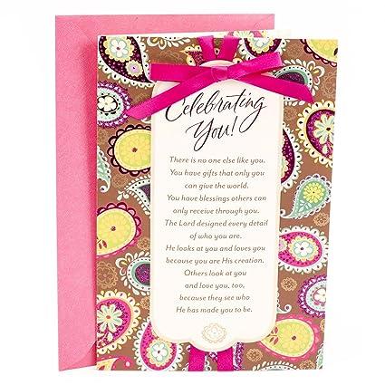Amazon Hallmark Mahogany Religious Birthday Card For Her