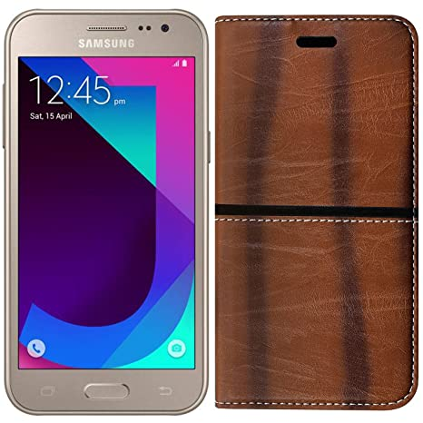 separation shoes 6cd10 741dd Roxel Samsung Galaxy J2 2017 Rich Boss Leather Flip: Amazon.in ...