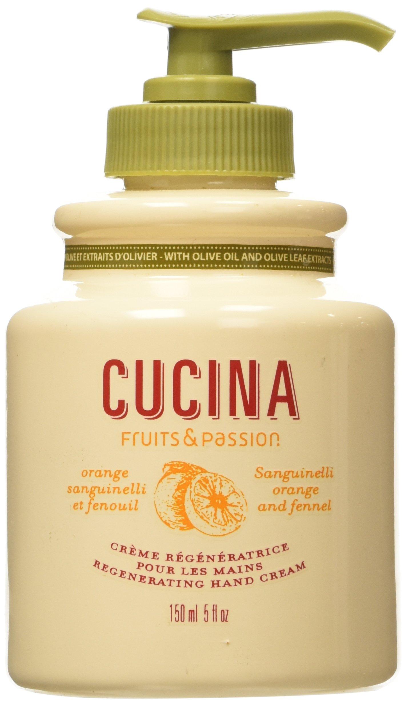 Fruits & Passion Cucina Regenerating Hand Cream Sanguinelli Orange & Fennel 5 oz