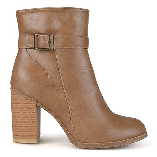 fd7932c333 Brinley Co. Womens Topstitch Heeled Boots