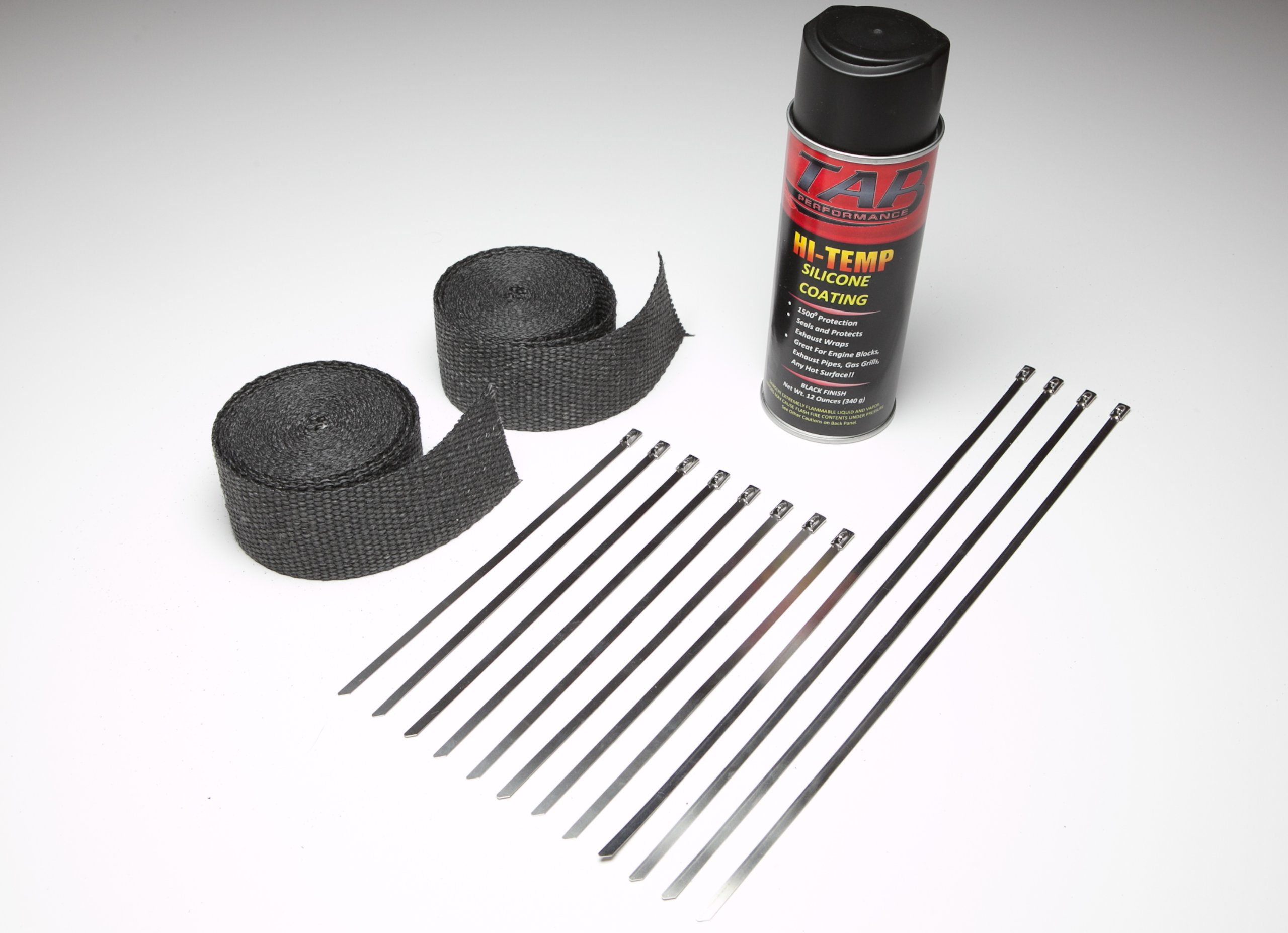 Motorcycle Exhaust Wrap Kit - Black