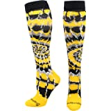 MadSportsStuff Crazy Tie Dye Socks Over The Calf - Softball, Soccer and More