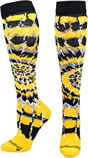 product image for MadSportsStuff Crazy Tie Dye Socks Over The Calf - Softball, Soccer and More