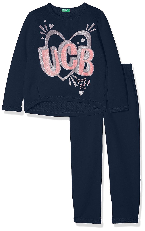 United Colors of Benetton Set Sweater+Trousers Conjunto, Azul ...