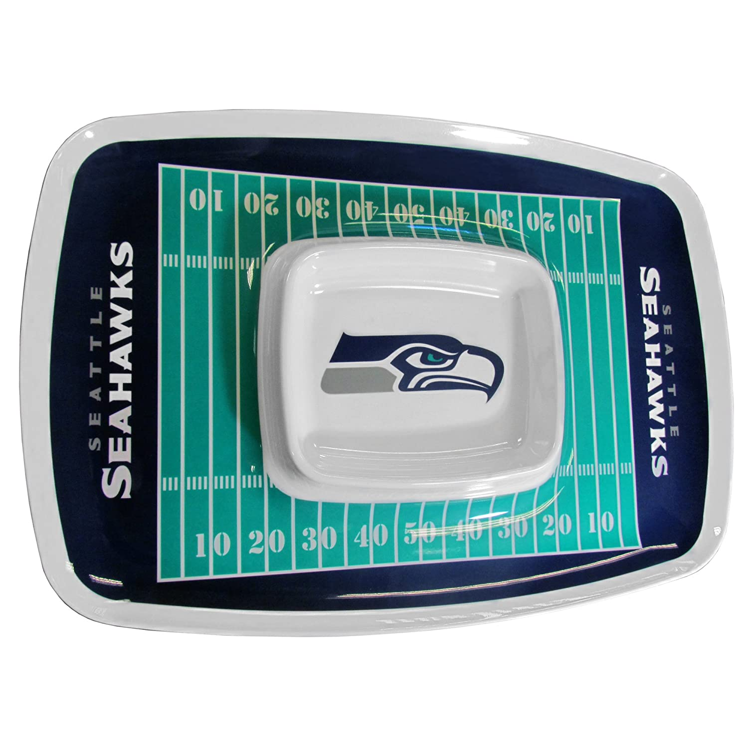 Motorhead Products NFL Seattle Seahawks Chip N Dip Tray R & D Enterprises CND Seattle