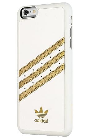 Adidas Basics liberadores Premium Carcasa para iPhone 6 Plus - blanco/dorado