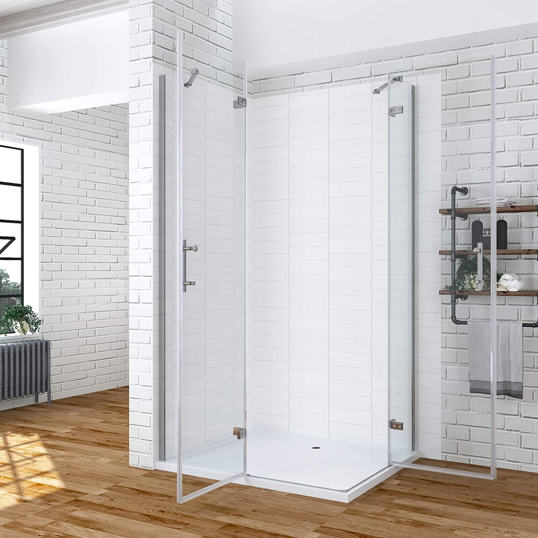 AQUABATOS Duschwand f/ür Badewanne 120x140cm mit Nano-Beschichtung faltbar Badewannenaufsatz Duschabtrennung Badewannenfaltwand Duschtrennwand Duschfaltwand Badewannenspritzschutz aus 5mm ESG Glas