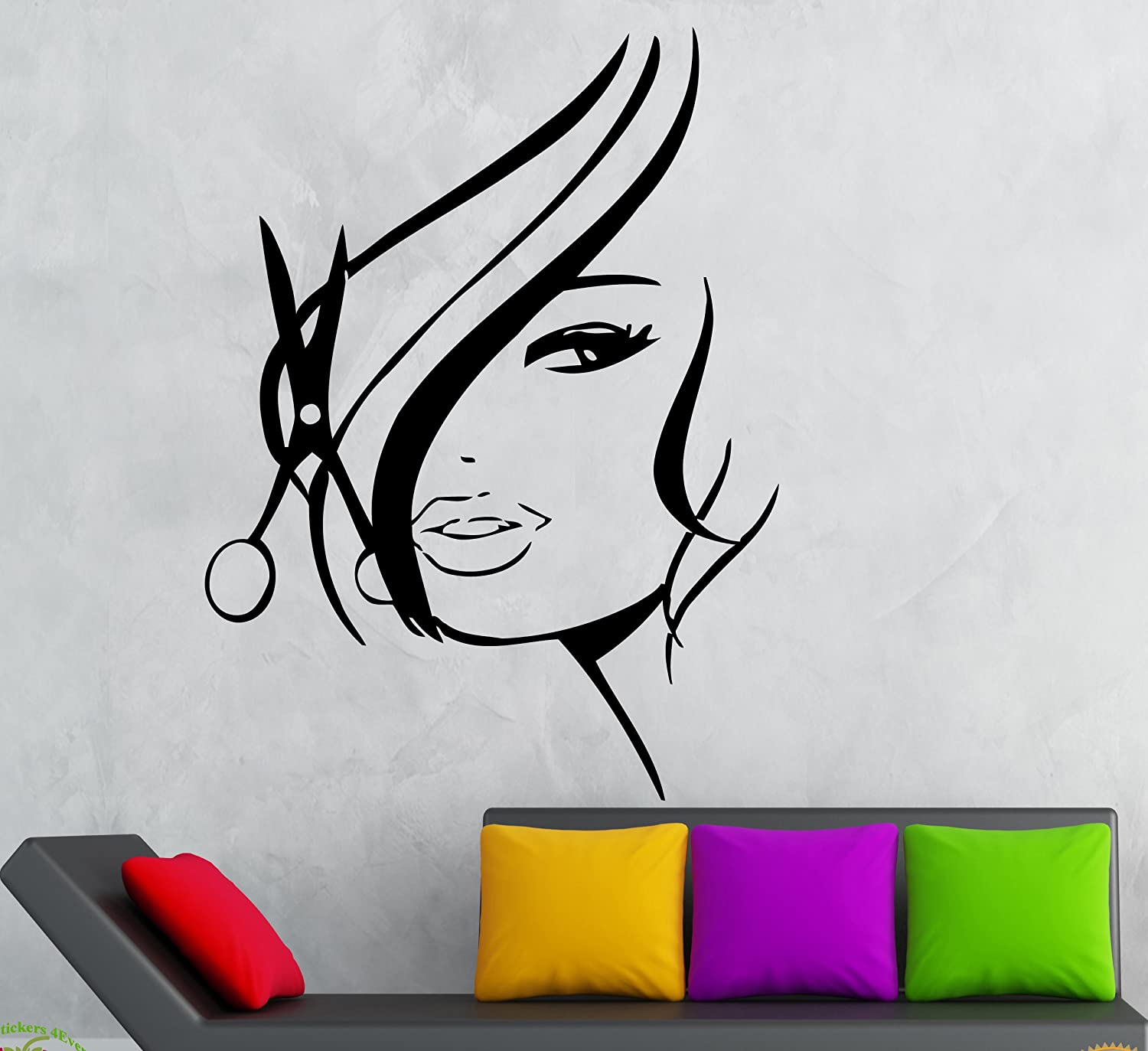 Amazon wall stickers vinyl decal hot sexy girl hair spa amazon wall stickers vinyl decal hot sexy girl hair spa beauty salon z736 home kitchen amipublicfo Images