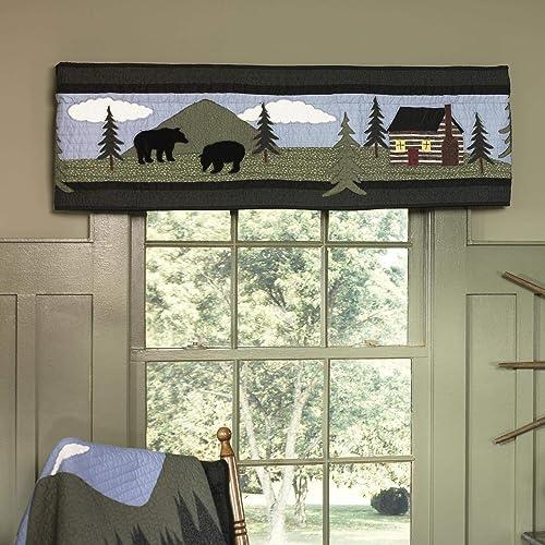 Donna Sharp Valance – Bear Lake Lodge Decorative Window Treatment with Bear Pattern