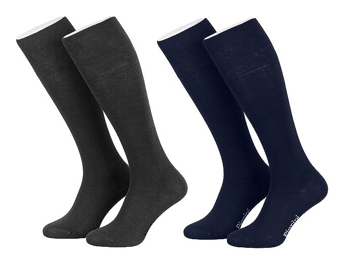Piarini® - 4 Pares de calcetines largos de ejecutivo - Alto contenido en algodón - Con elastano - Sin elástico: Amazon.es: Ropa y accesorios