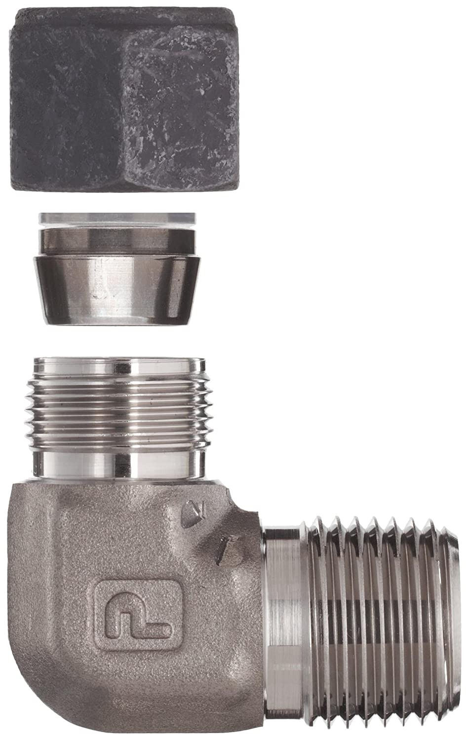 Parker CPI 6-8 CBZ-SS 316 Stainless Steel Compression Tube Fitting 3//8 Tube OD x 1//2 NPT Male 90 Degree Elbow