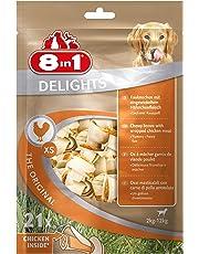 8in1 Delights Chicken, gesunder Kauknochen für Hunde, hochwertiges Hähnchenfleisch eingewickelt in Rinderhaut, versch. Größen