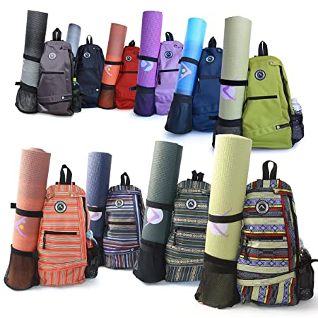 66917bfd52f9 Amazon.com   Aurorae Yoga Mat Bag. Multi Purpose Cross-body Sling Back Pack.  Mat sold separately.   Yoga Kit   Sports   Outdoors