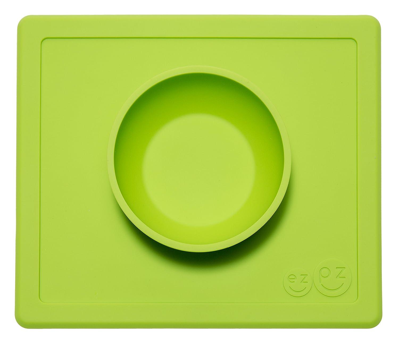 ezpz Happy Bowl - One-piece silicone placemat + bowl (Coral) LMHBC004