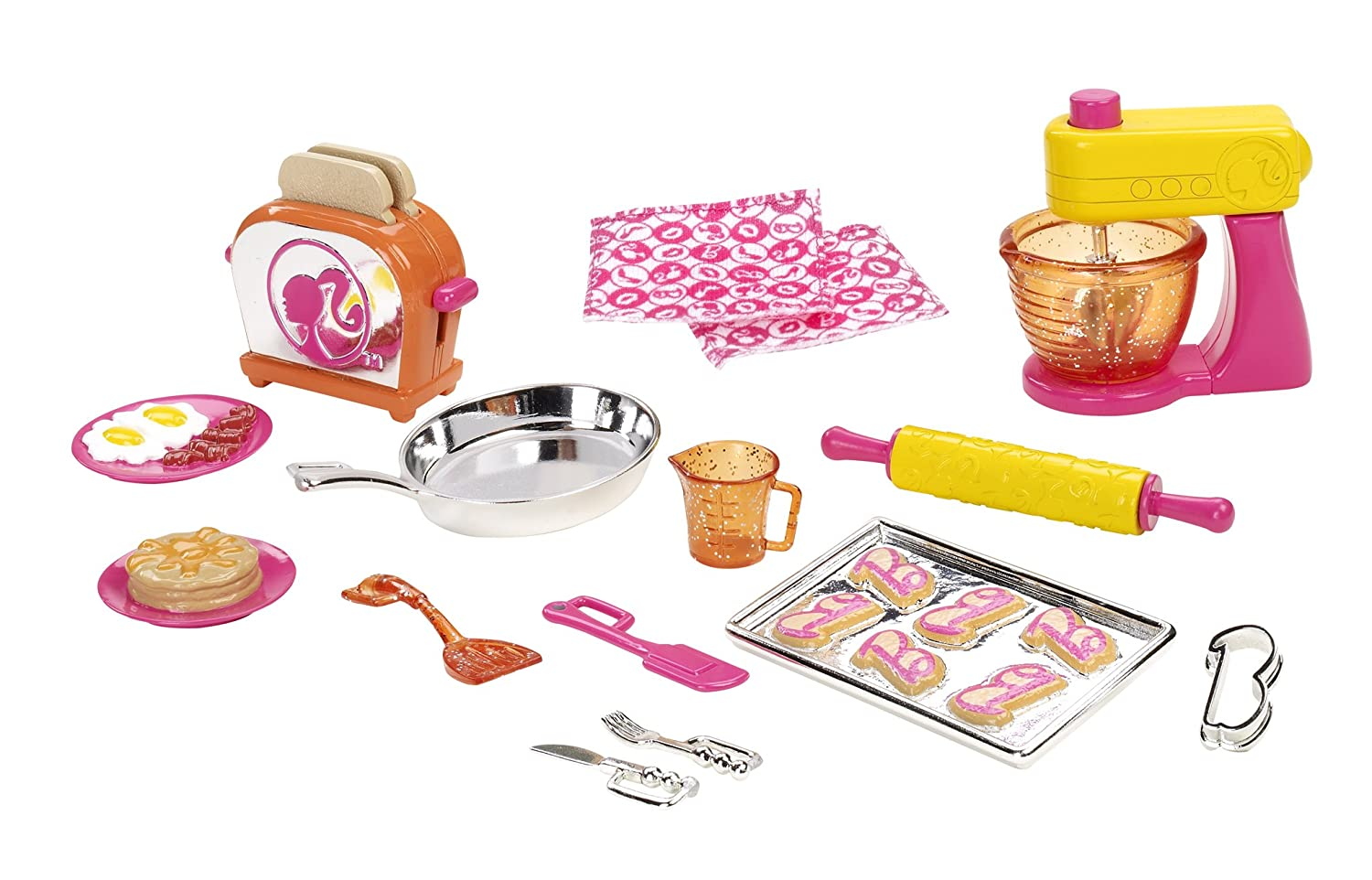 Amazon.com: Barbie Doll and Kitchen Accessory Set: Toys & Games