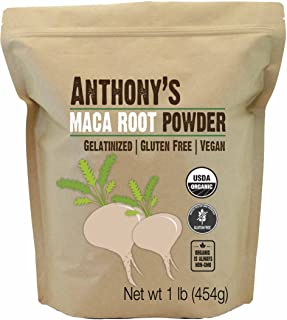 product image for Anthony's Organic Maca Root Powder, 1 lb, Gelatinized for Enhanced Bioavailability, Gluten Free & Non GMO