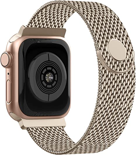 Image of Adepoy Correa para Apple Watch 38mm 40mm 42mm 44mm, Pulseras de Metal de Acero Inoxidable Compatible con iWatch Series 5/4/3/2/1
