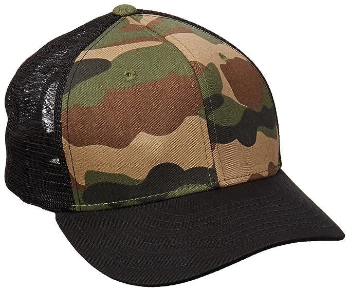 699f61bef393a Amazon.com: DECKY Cotton Curve Bill Trucker Cap, Black/Woodland ...
